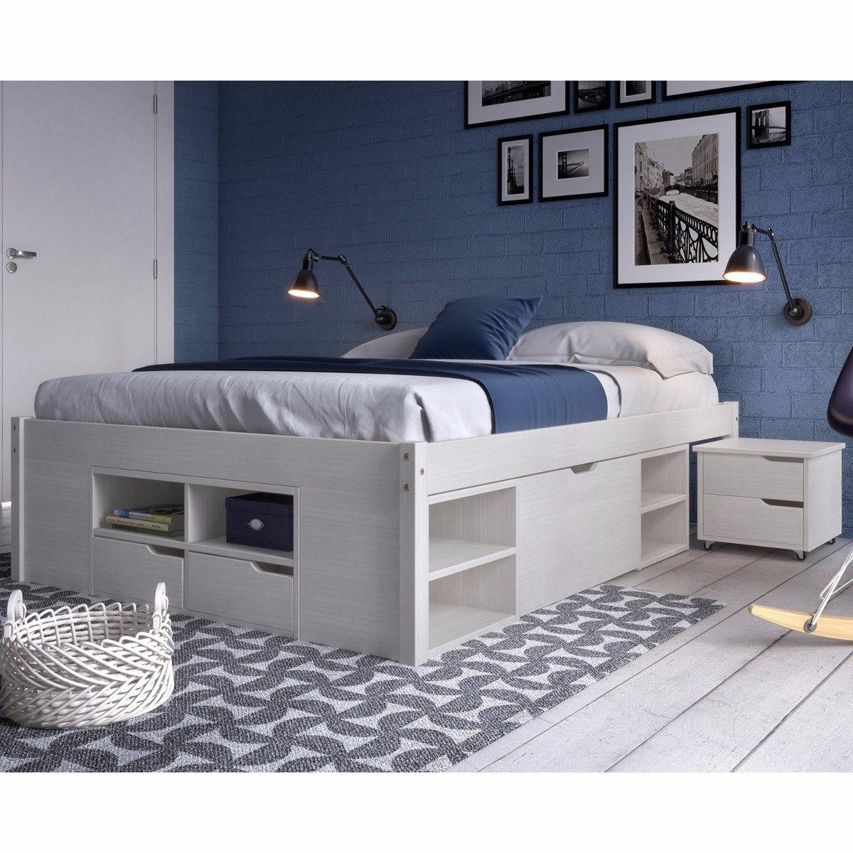 a9be80aec4 cama casal multifuncional madeira maciça 6 gavetas ee. Carregando zoom.