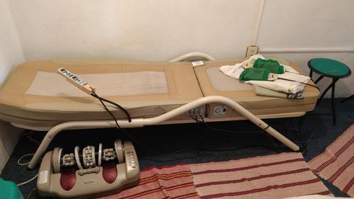 cama ceragem y aparato de reflexología para los pies