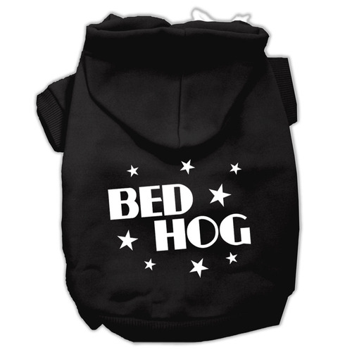 cama cerdo pantalla impreso pet hoodies negro tamaño xl (16)
