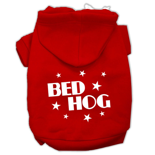cama cerdo pantalla impreso pet hoodies rojo tamaño sm (10)
