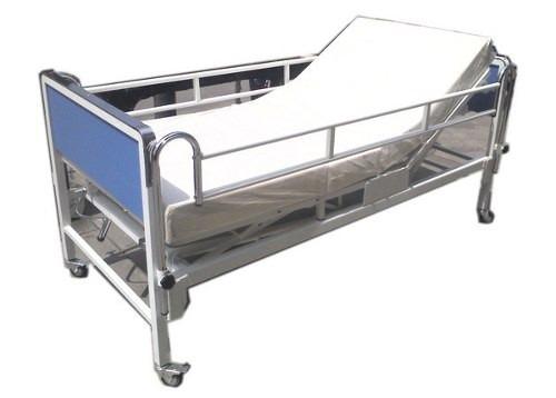 cama clinica medicada de dos manivelas + colchon articulable