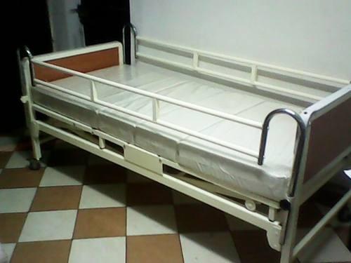 cama clinica nacional de dos manivelas + colchon ¡nuevos!