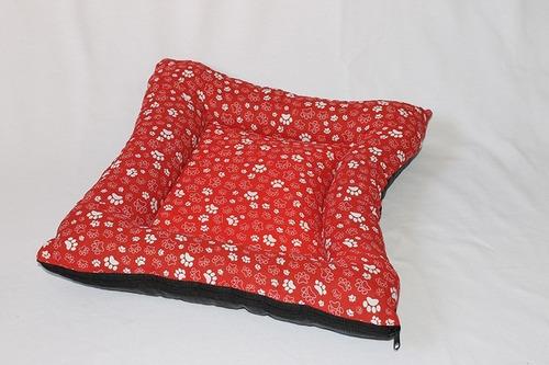 cama colchão colchonete para cachorro tamanho m + estampas