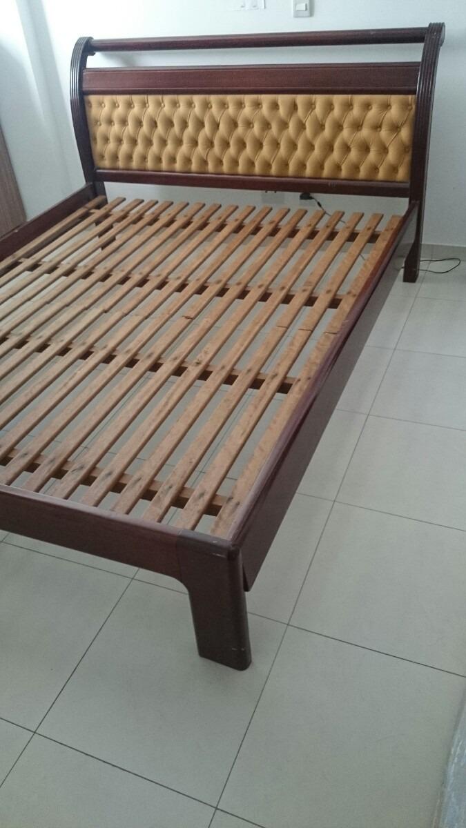 Cama colch o queen size madeira maci a r 950 00 em for Imagenes de cama queen size