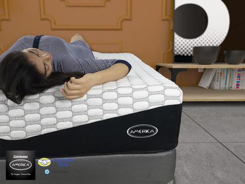 cama colchón américa con box king size epic memory gel