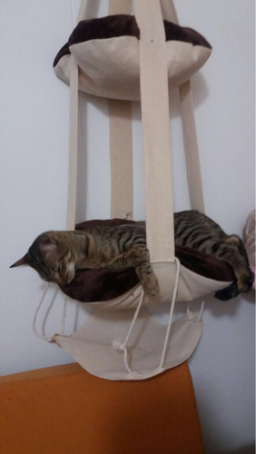 cama colgante para gato