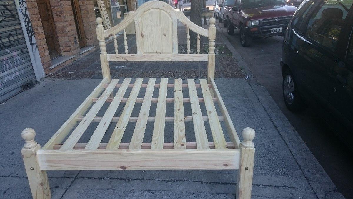 cama colonial plazas pata x de pino estilo algarrobo