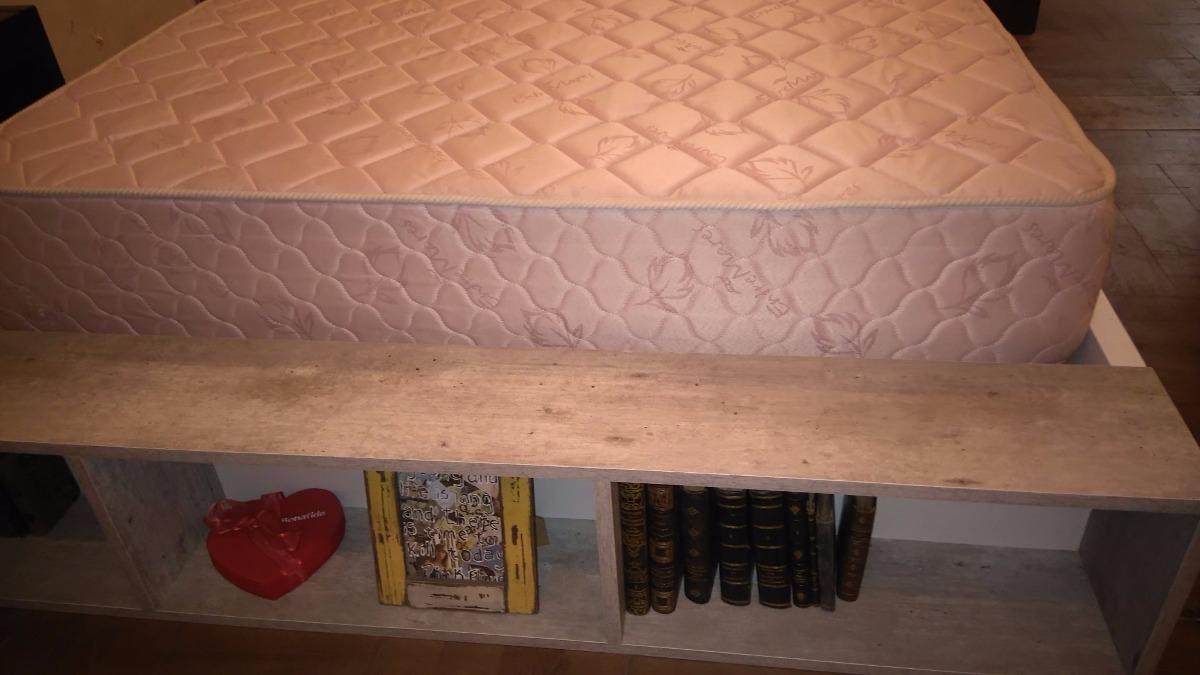 Cama Con 4 Cajones Para Colchon De 160 X 200 + Biblioteca - $ 18.800 ...
