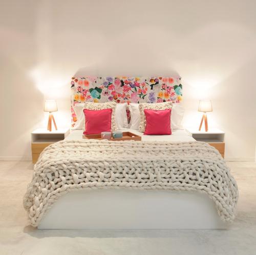 cama con cajonera abajo madera laqueada forbidan muebles
