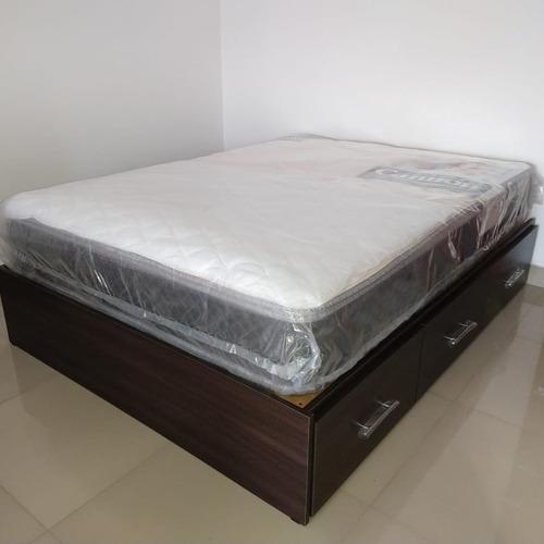 cama con cajonera box  somier y cajones