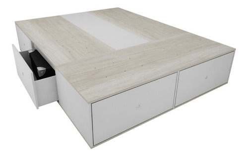 cama con cajones 2 plazas  con zapatero para colchon 150cm