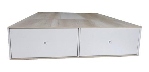 cama con cajones box sommier 2 plazas 4 cajones y zapatero doble para colchon 170cm