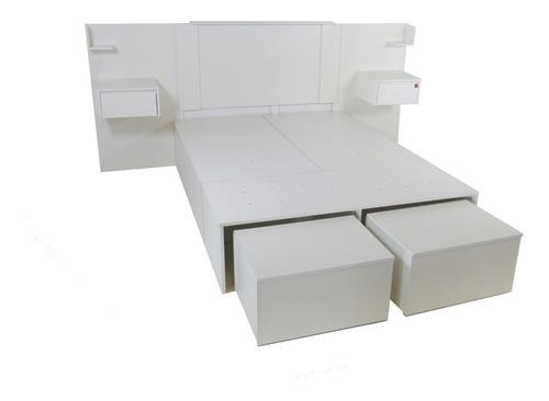 cama con cajones multifuncion asiento y pie cama+