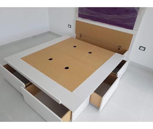 cama con cajones + respaldo 190 x 140 cm