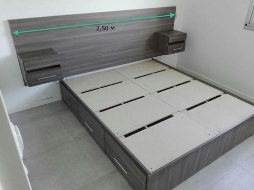 cama con cajones respaldo box de somier con respaldo