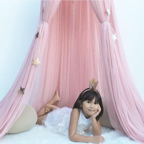 cama con dosel algodón mosqutio neto cortina colgante