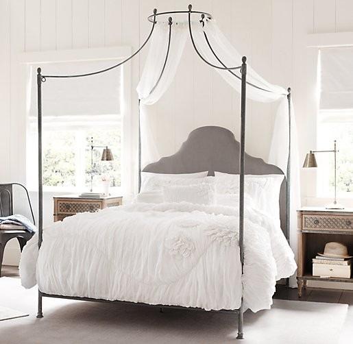 cama con dosel baldaquino de hierro samsa plazas