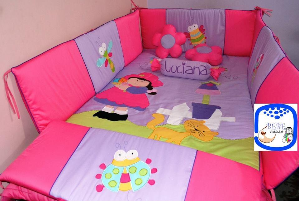Lenceria bebe colecho cama cuna corral cuarto decoraci n for Cuartos para ninas sencillos
