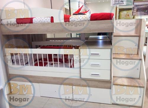 cama cucheta cuna funcional escalera cajones la valenziana