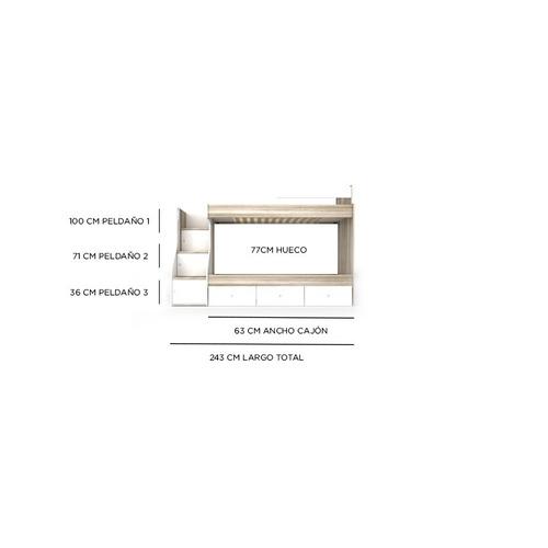 cama cucheta madera la valenziana s21