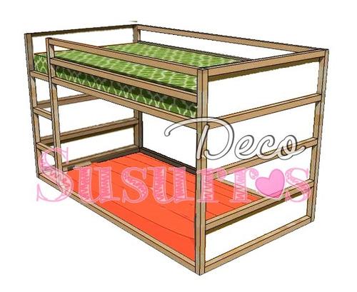 cama cucheta montessori tipo ikea pino