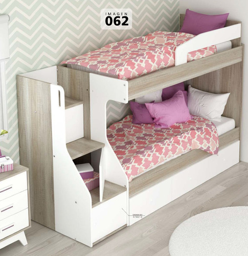 cama cucheta s21 la valenziana con escalera y cajones