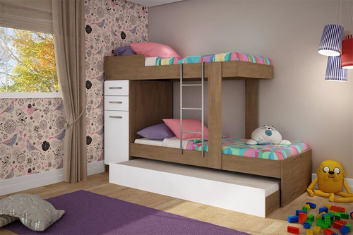 cama cucheta superpuesta marinera tiple moderna x3 infantil
