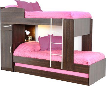 cama cucheta triple 3 camas 1 plaza platinum colores kromo-s