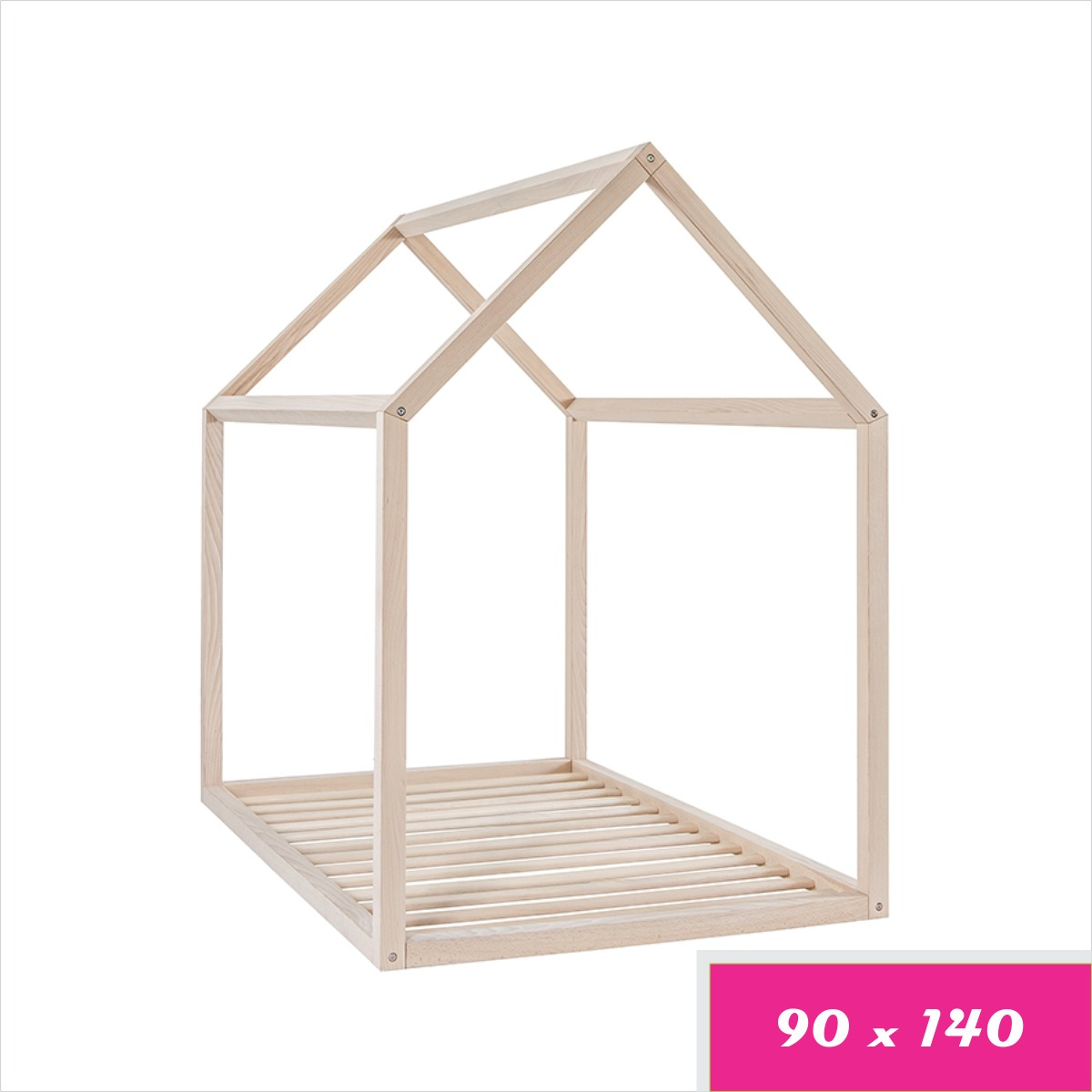 Cama Cuna Casa Montessori En Pino Canadiense - 90 X 140 - $ 499.900 ...
