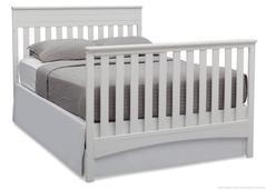 cama cuna convertible fabio 4 en 1- blanca delta children