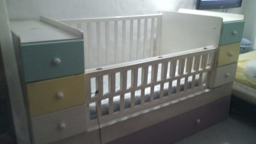 cama cuna de madera