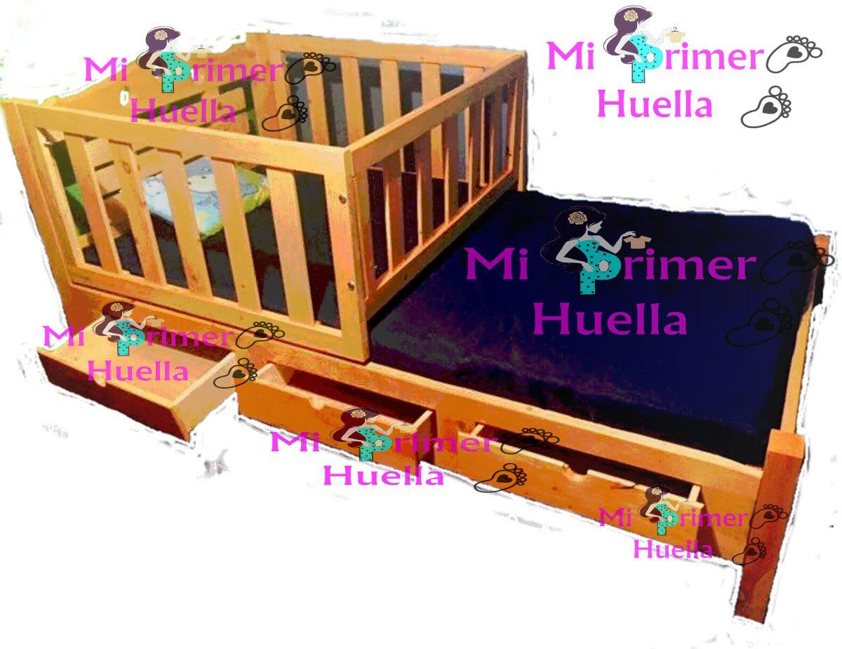 Cama cuna en madera de pino cama corral sin colchon - Colchon para cambiador de bebe ...