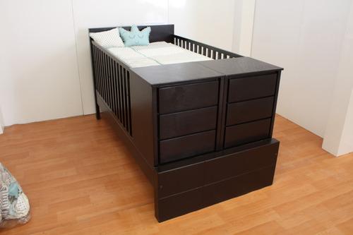 cama cuna individual mod.  chianti  incluye colchón ahulado.