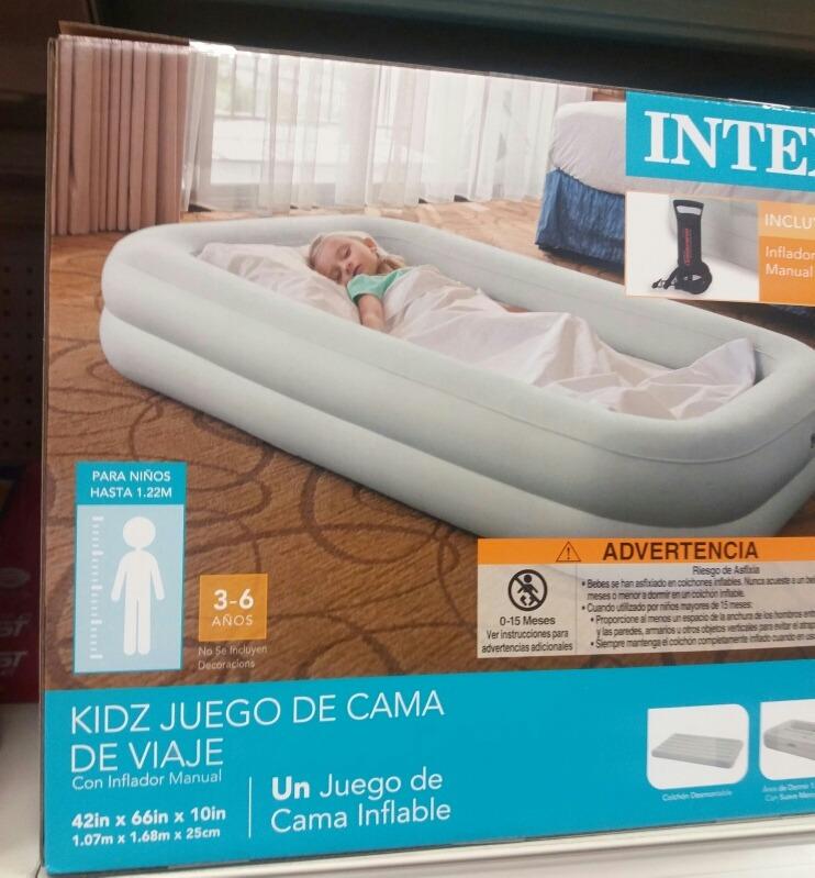 Cama Cuna Inflable De Viaje Para Niño/a De 3 A 6 Años Intex ...