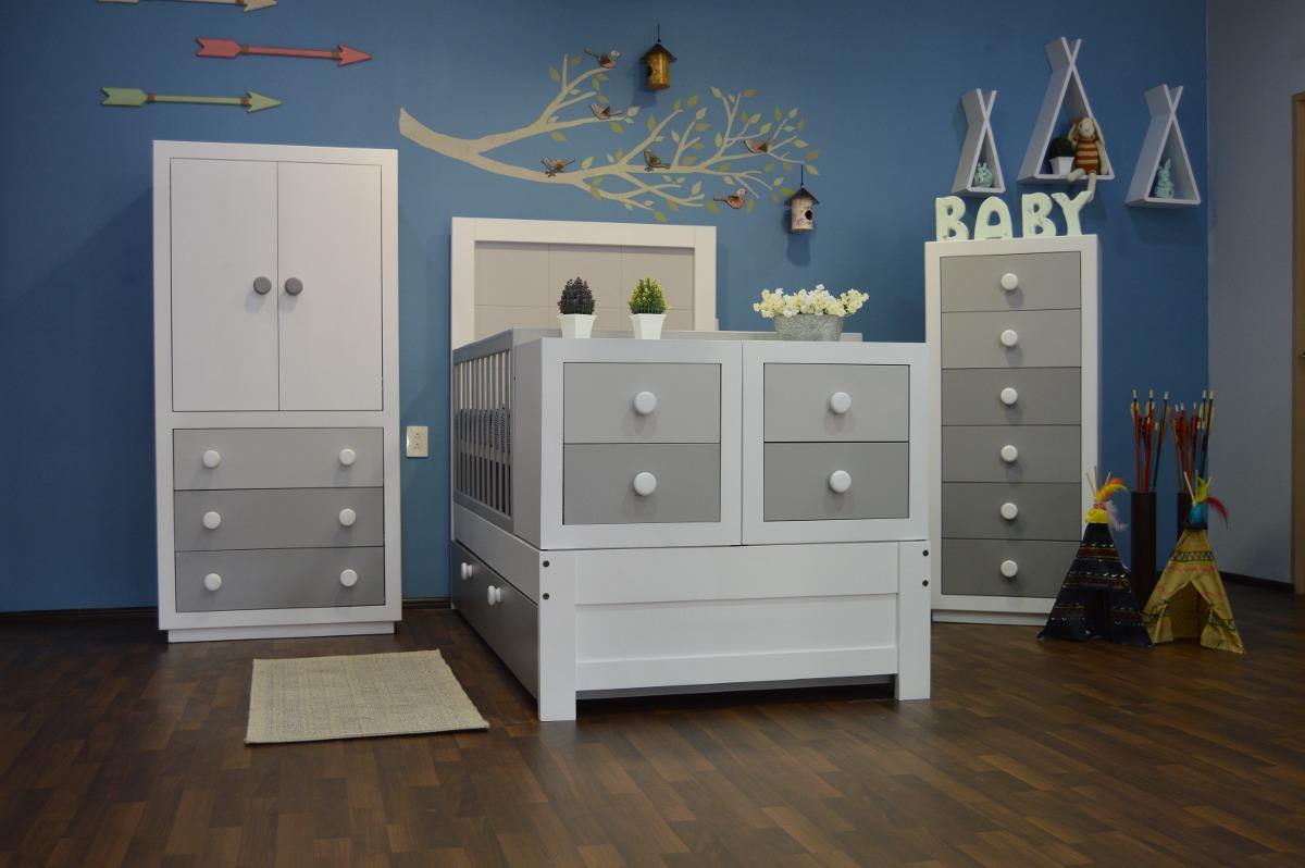 Cama-cuna Mod. Carré. Bco/gris, Diseño Infantil, Muebles ...