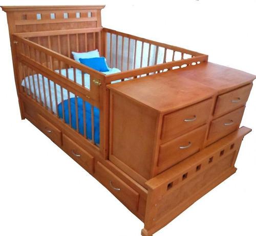cama cuna mod. persa, hecha en madera de pino