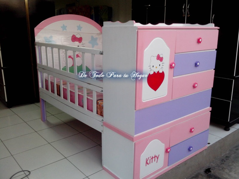 cama cuna para niosas de plaza y media pintura duko blanc