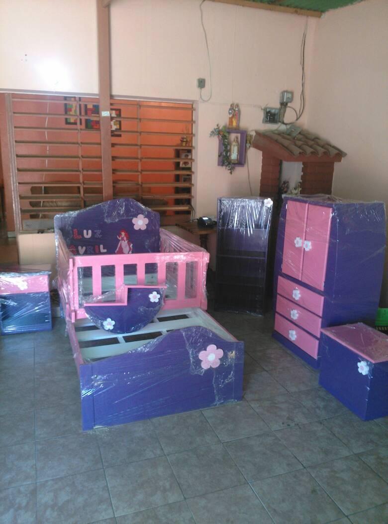 Cama cunas ni os ni as madera juego de cuartos for Modelos de dormitorios para ninos