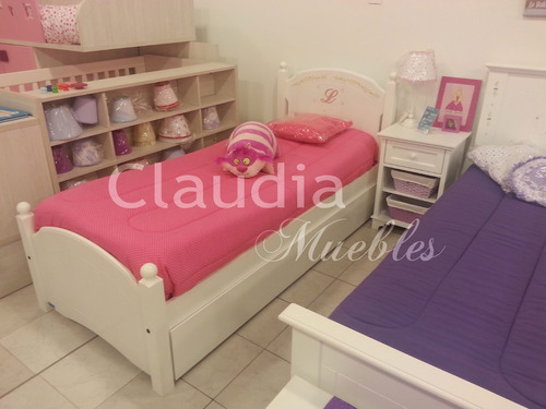 cama de 1 plaza laqueada infantil o juvenil divan opcion dec