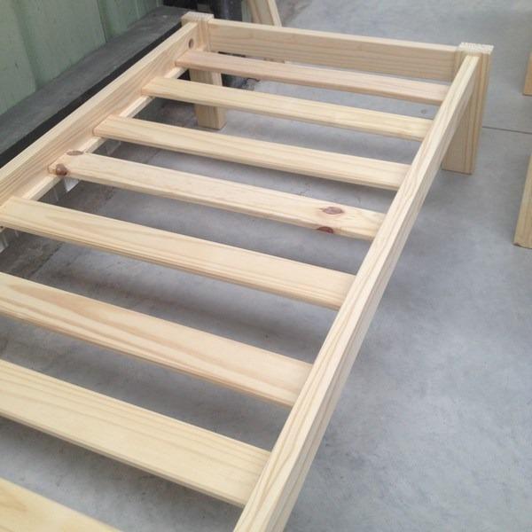 Cama de 1 plaza madera maciza en mercado libre for Precio de cama de 1 plaza