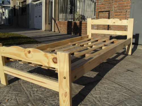 Cama de 1 plaza madera pino macizo calidad super oferta for Ofertas de sillon cama