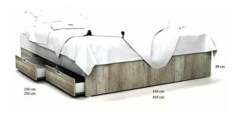 cama de 2 plaza con 4 cajones minimalista