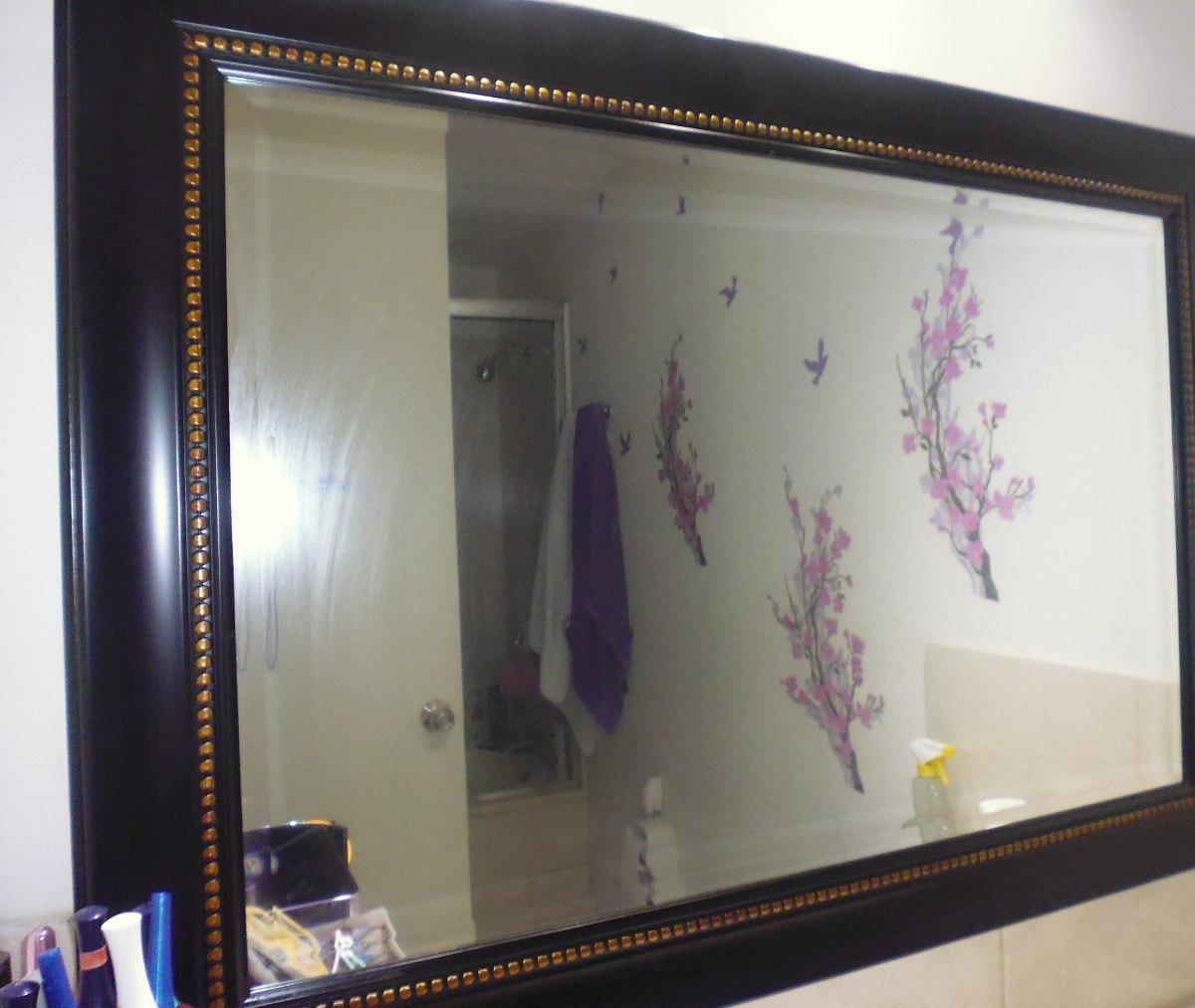 Cama de 2 plazas con 2 veladores blanco y lila espejos for Espejos decorativos blancos