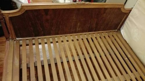 cama de 2 plazas estilo luis xvi sin elástico