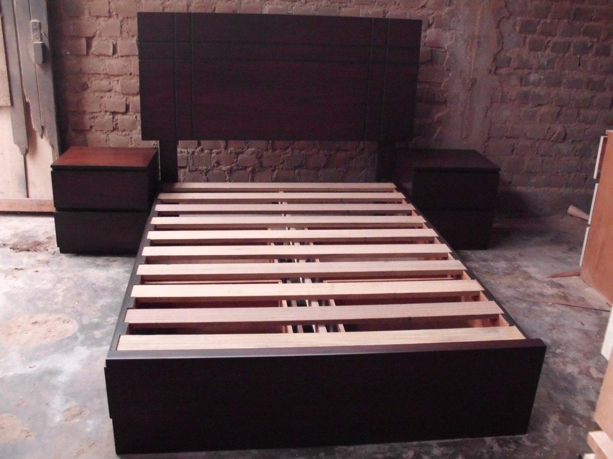 Cama de 2 plzs con 4 cajones laterales 2 veladores s for Sillon cama con cajones
