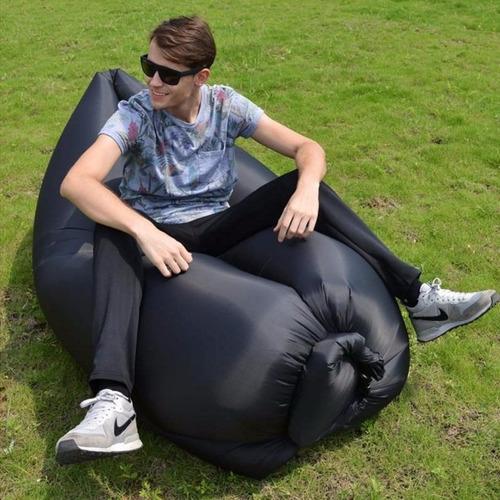 cama de aire air sofa laybag puf puff - 3 solores
