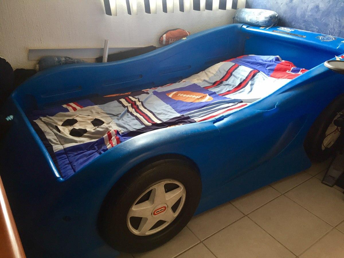 Venta De Carros Usados >> Cama De Auto Deportivo Carro Little Tikes Azul - $ 3,900 ...