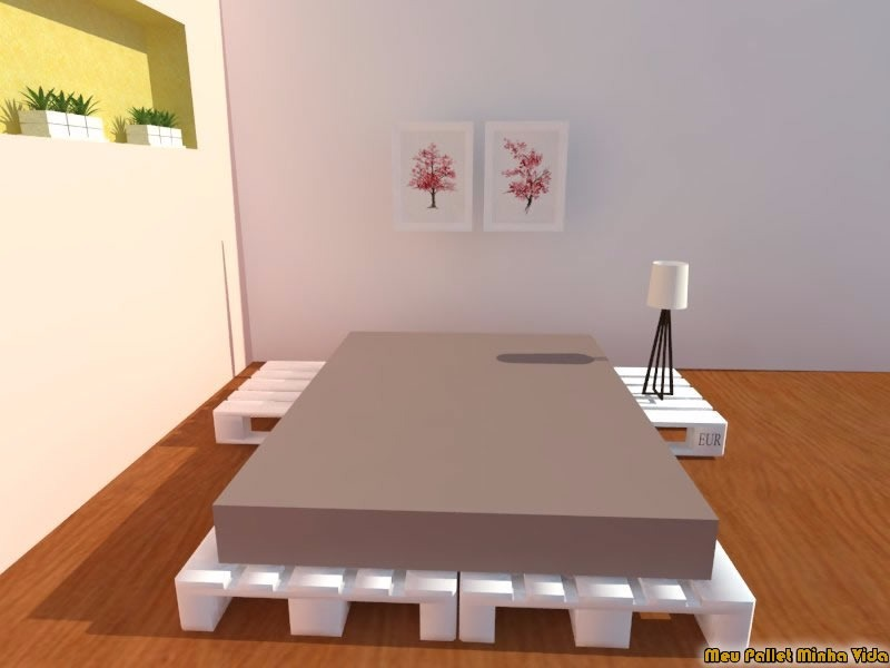 Cama de casal em pallet box modular vira sof projetos for Sofa que vira beliche onde comprar