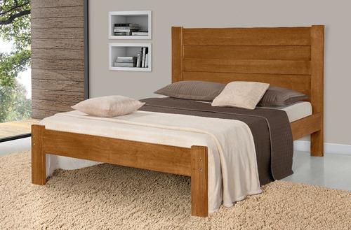 cama de casal lara de madeira maçica pinus