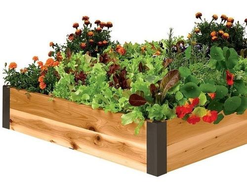 cama de cultivo para huerto de 90x120x20 cms